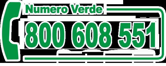 Chiama il numero verde gratuito 800.608.551